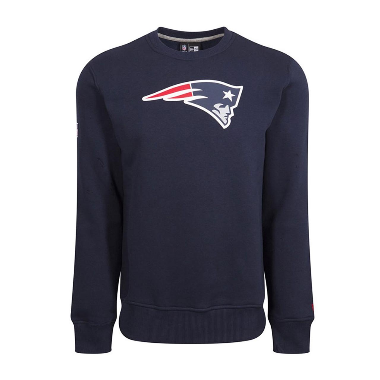 a1ca7c94c NEW ERA New England patriots team logo NFL crew sweat [navy]