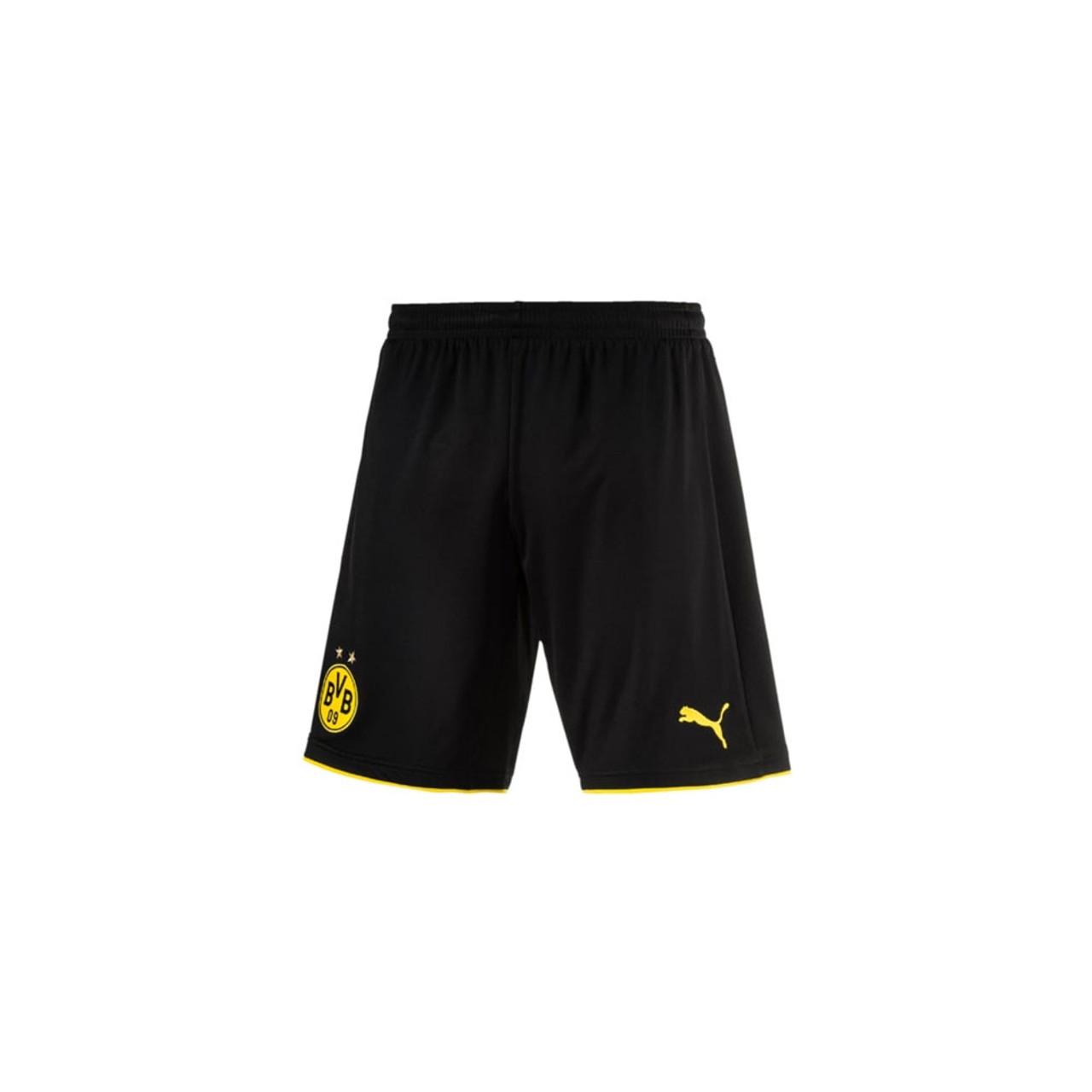 2c6a4b1ba2 PUMA borussia dortmund 2016/17 woven football shorts with pockets and inner  [black]