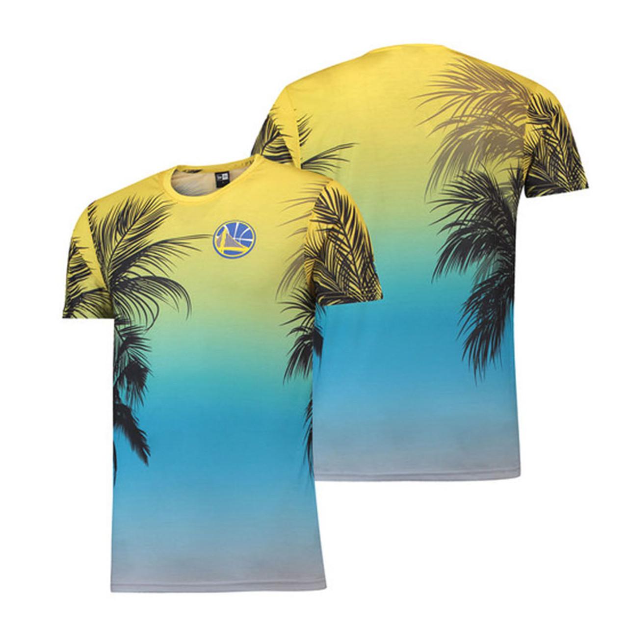 NEW ERA golden state warriors NBA coastal heat t-shirt  yellow  4ee047237
