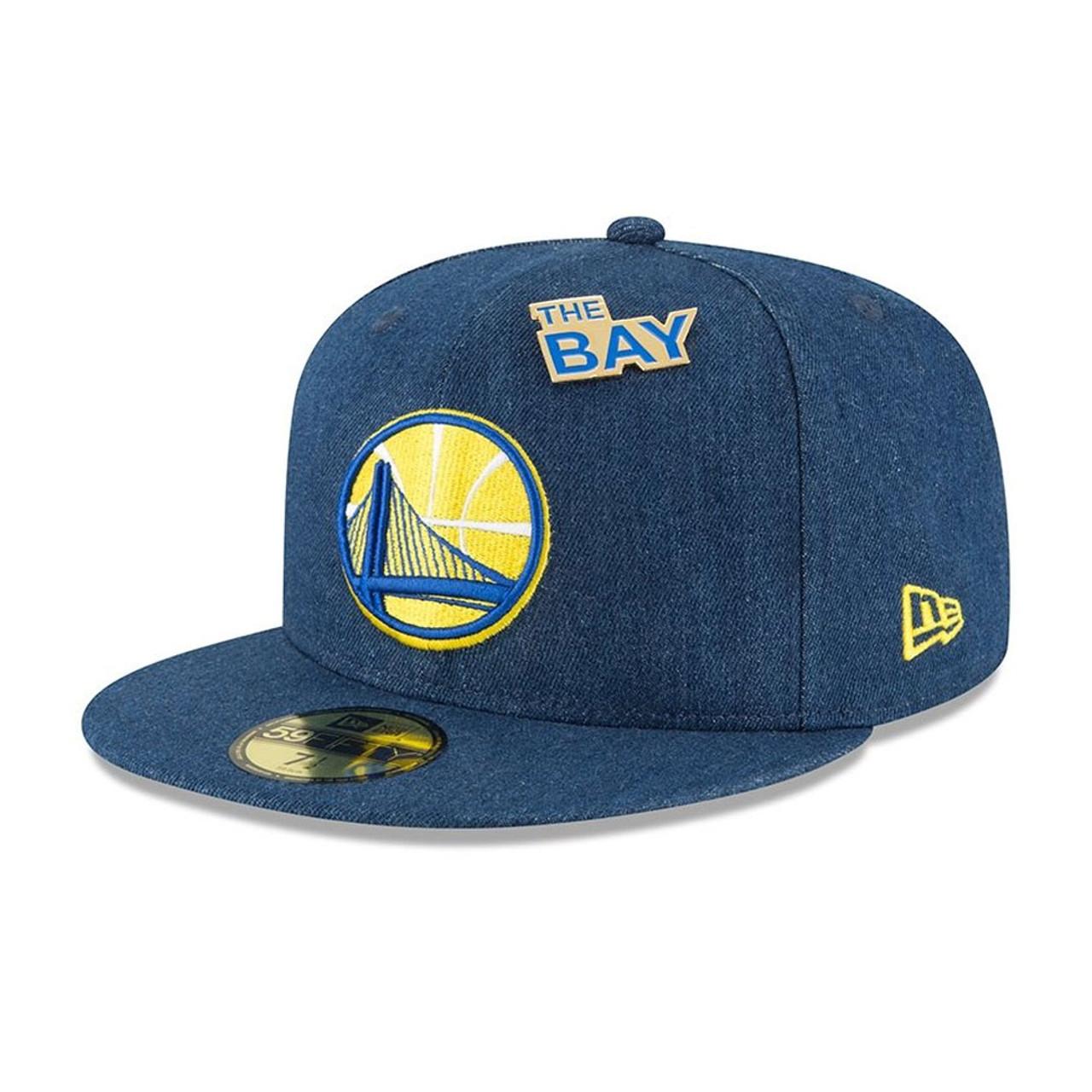 158a74ba20d5e NEW ERA golden state warriors 9fifty adjustable basketball snapback draft   denim  ...