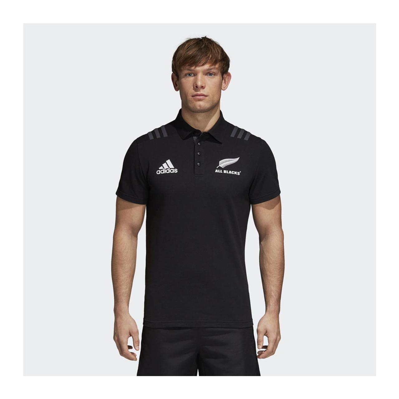 be1e1511c4d ADIDAS new zealand all blacks rugby polo shirt [black]
