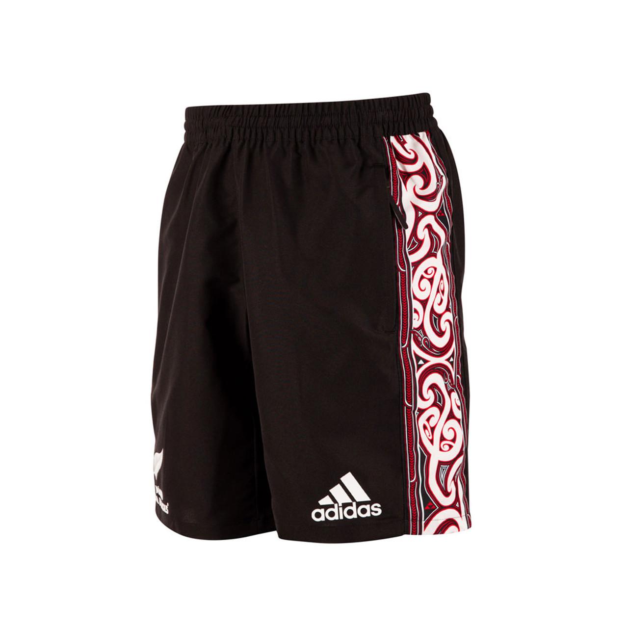 b58580a07342 ADIDAS Mens All Blacks Maori woven rugby short 2019  black