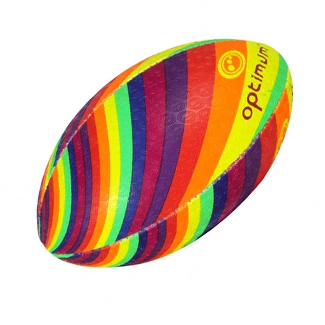 OPTIMUM Cartoon Rainbow Twister rugby ball - MIDI