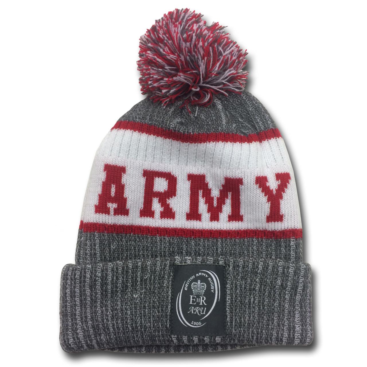 2da4fe97 SAMURAI ARU knitted bobble beanie [grey/white/red]