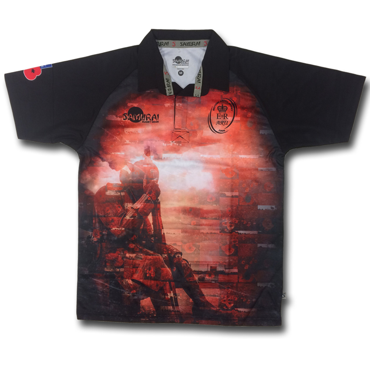 affdf79e0d6 SAMURAI ARU Tommy Soldier Rememberance Rugby Shirt