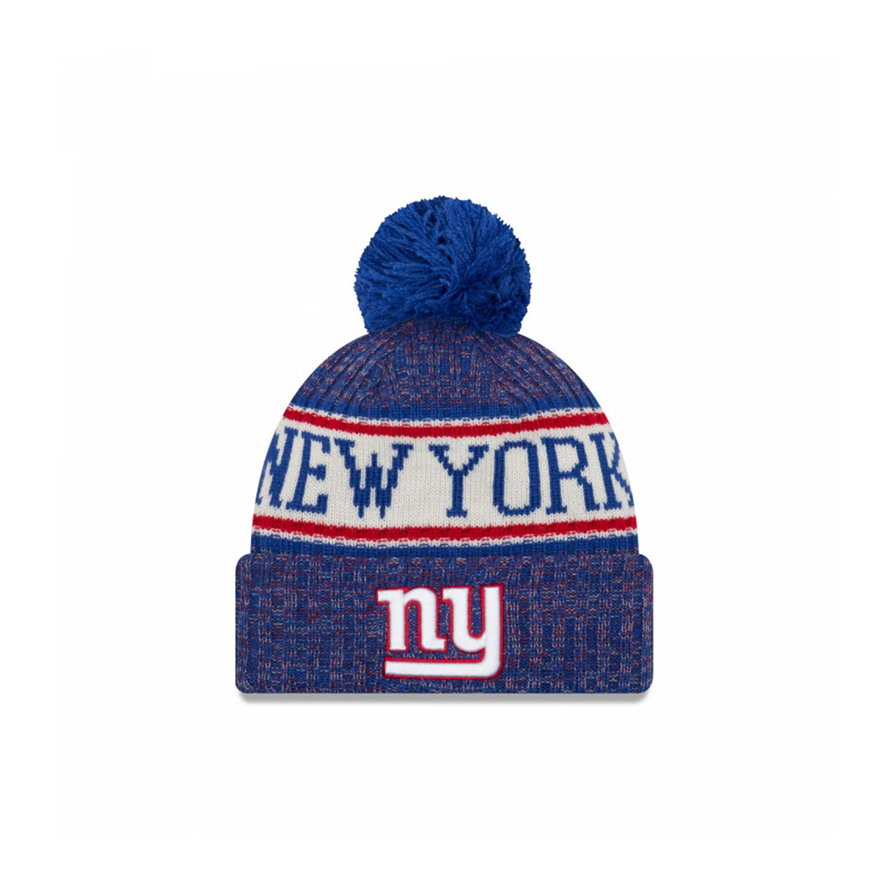 9ff60093d9f42 NEW ERA New York Giants NFL sideline knit bobble beanie hat  blue