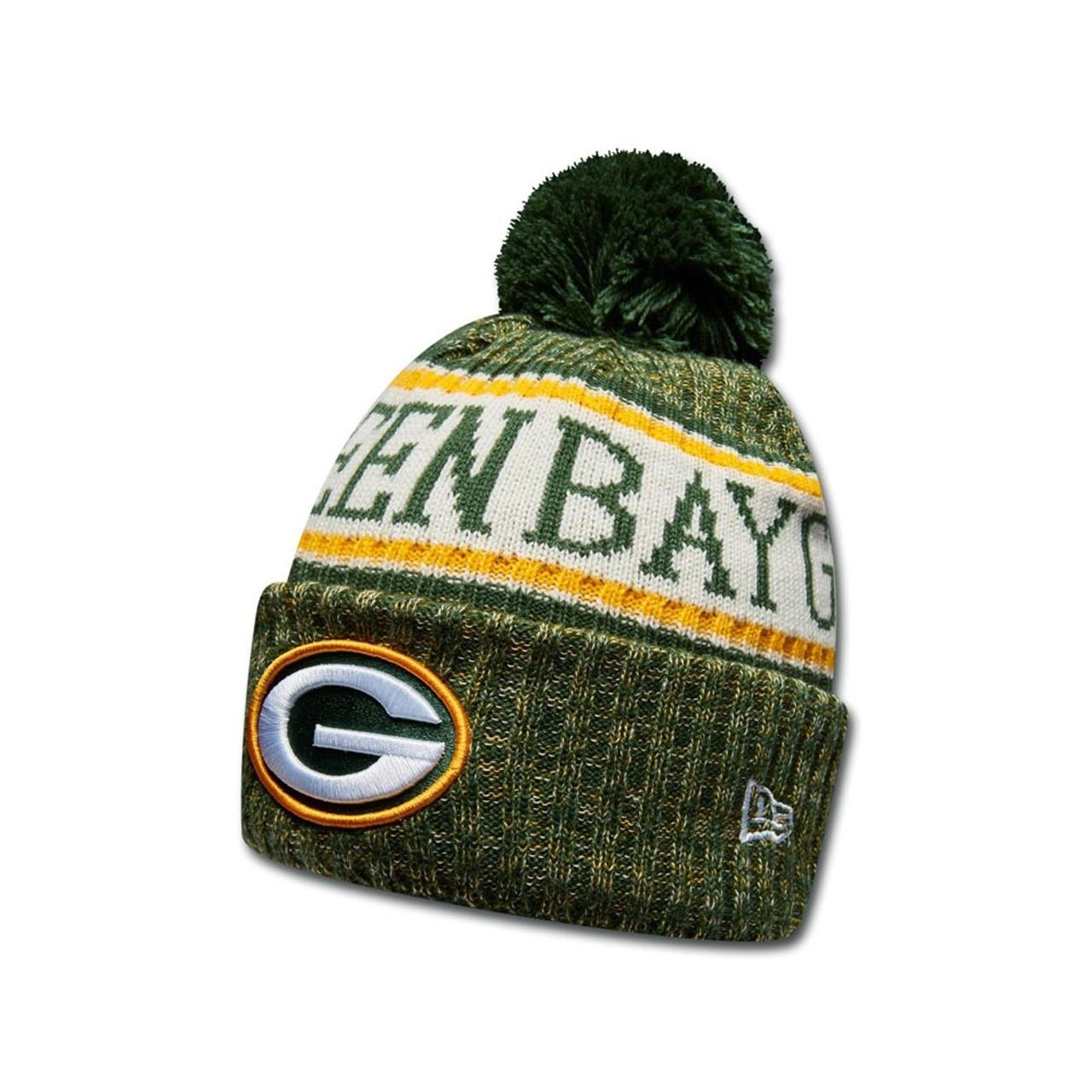 77ae3aa7edb3e NEW ERA Green Bay Packers NFL sideline knit bobble beanie hat ...