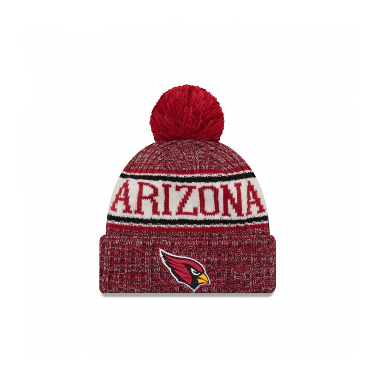 031593fb NEW ERA Arizona Cardinals NFL sideline knit bobble beanie hat [red]