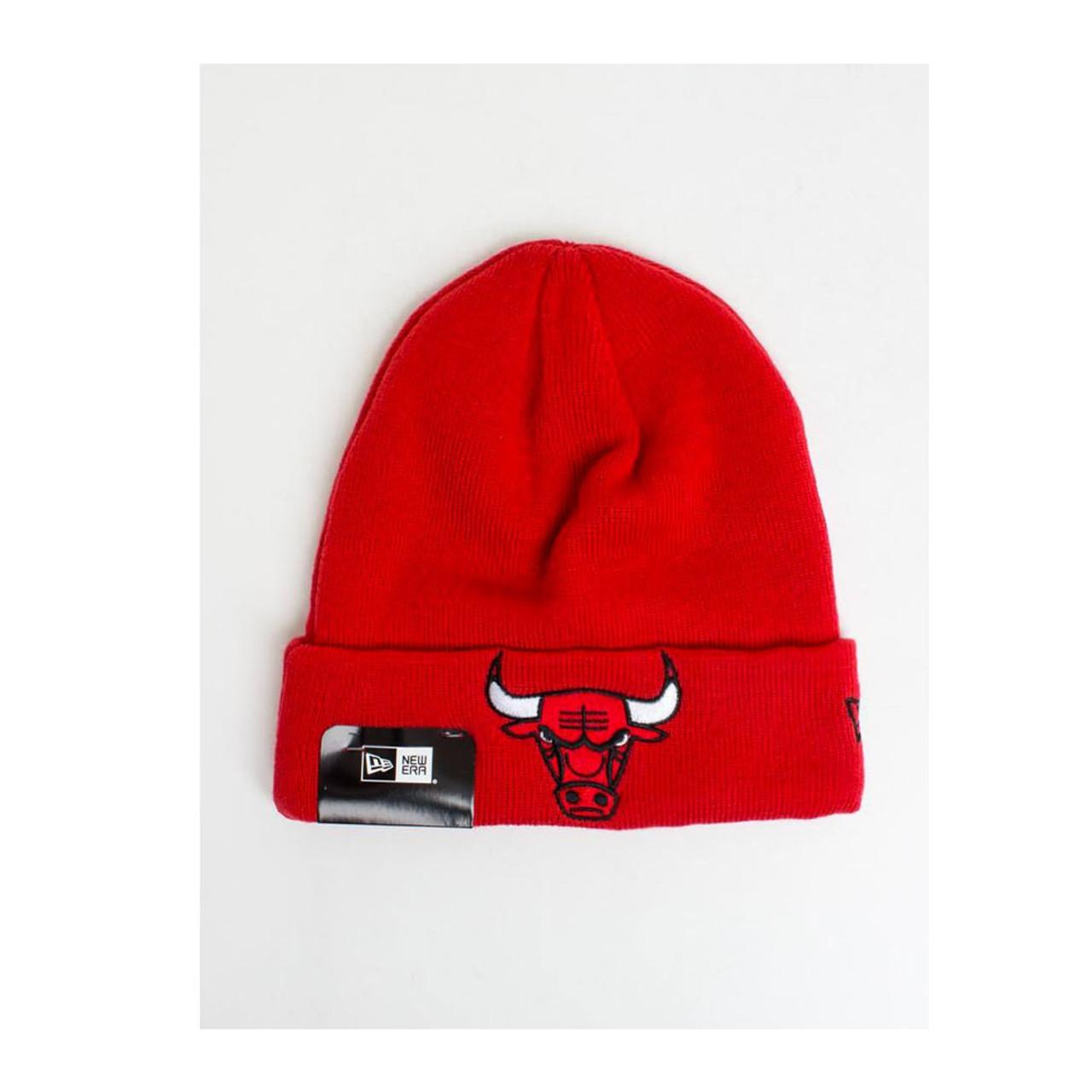 798bfe821cd NEW ERA chicago bulls NBA team basketball Essential cuff beanie  red