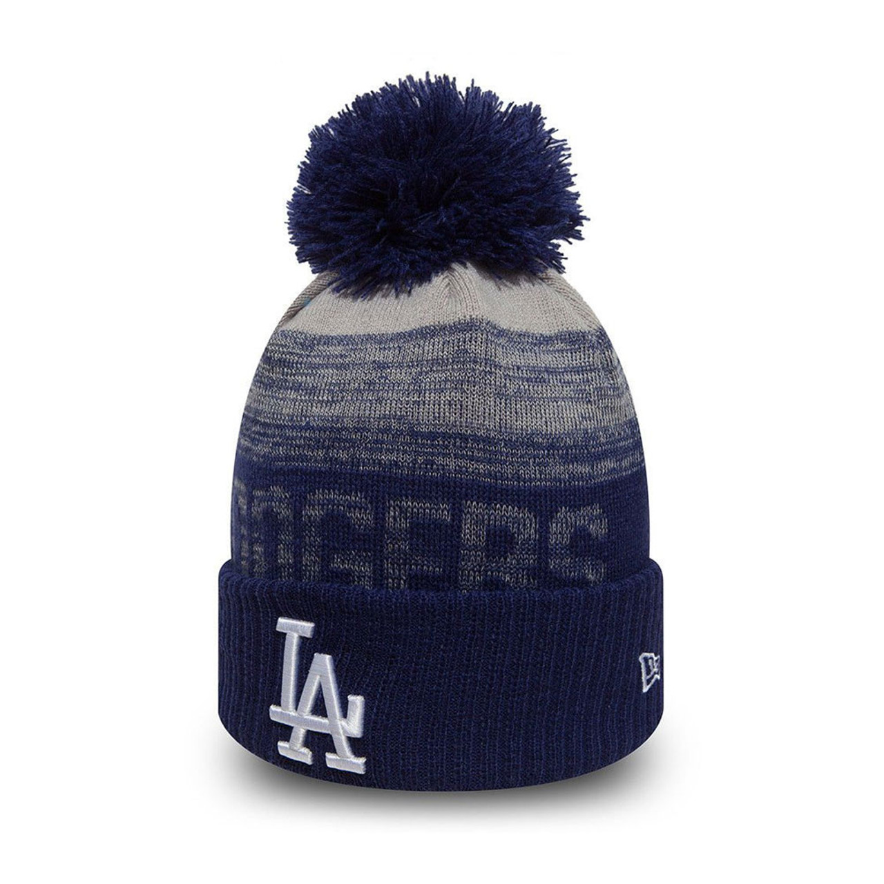 NEW ERA LA Dodgers Knit Bobble Hat Beanie  blue  42b41ac54888