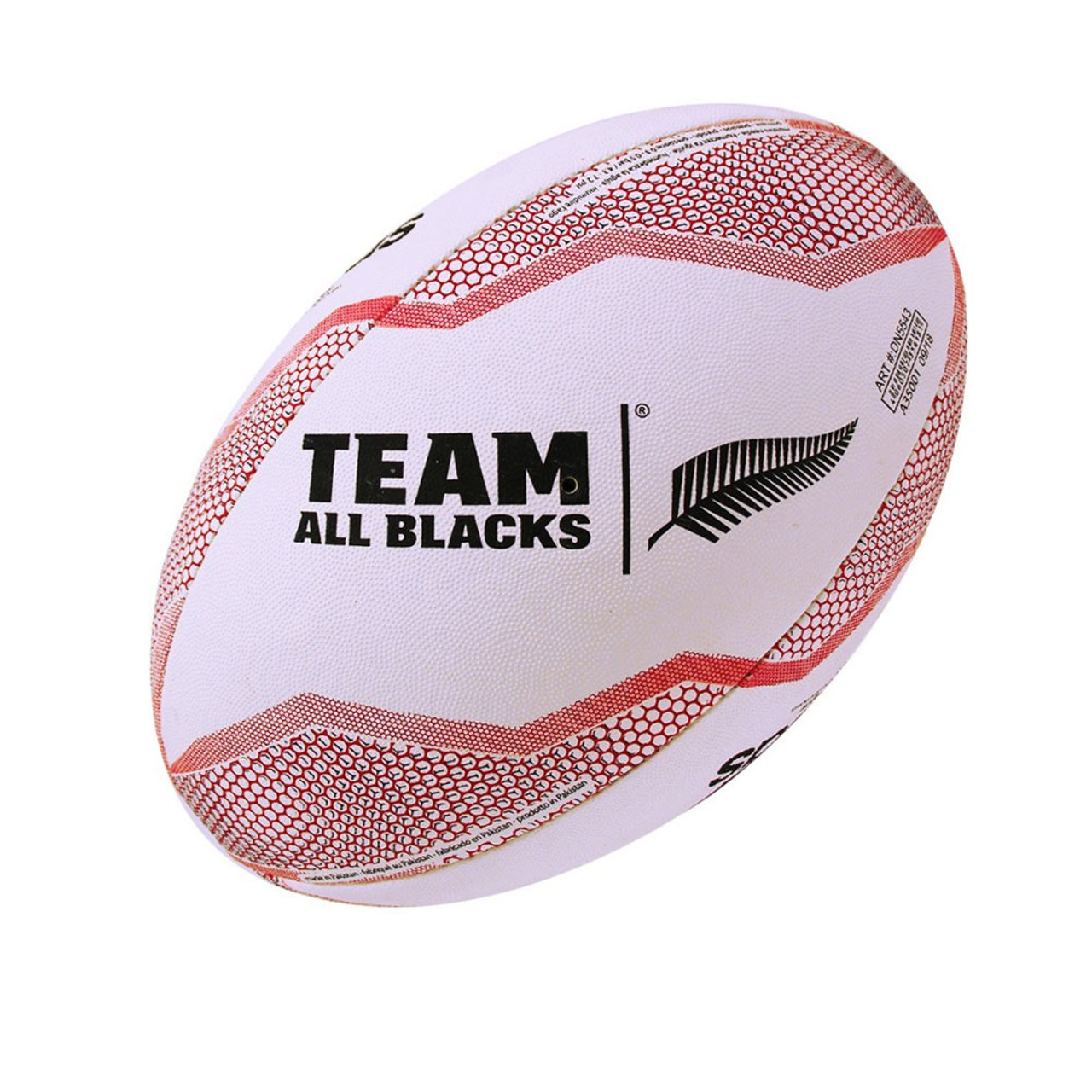 cheap for discount 05ee7 e612d ADIDAS Replica All Blacks Rugby ball size 5 [white/red]