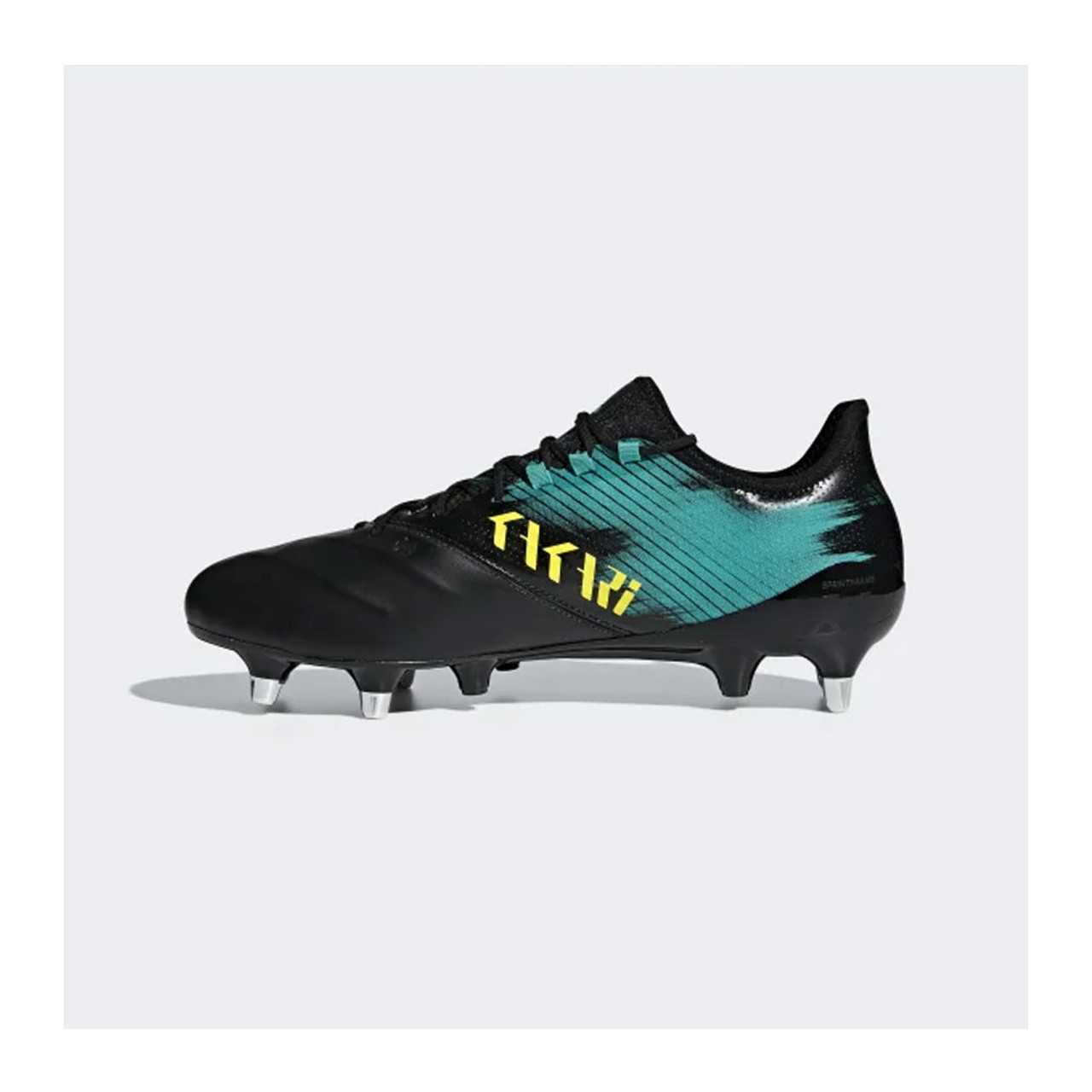 huge discount 23e59 08bdc ADIDAS Kakari Light Soft Ground rugby boots  core black shock yellow hi res  aqua