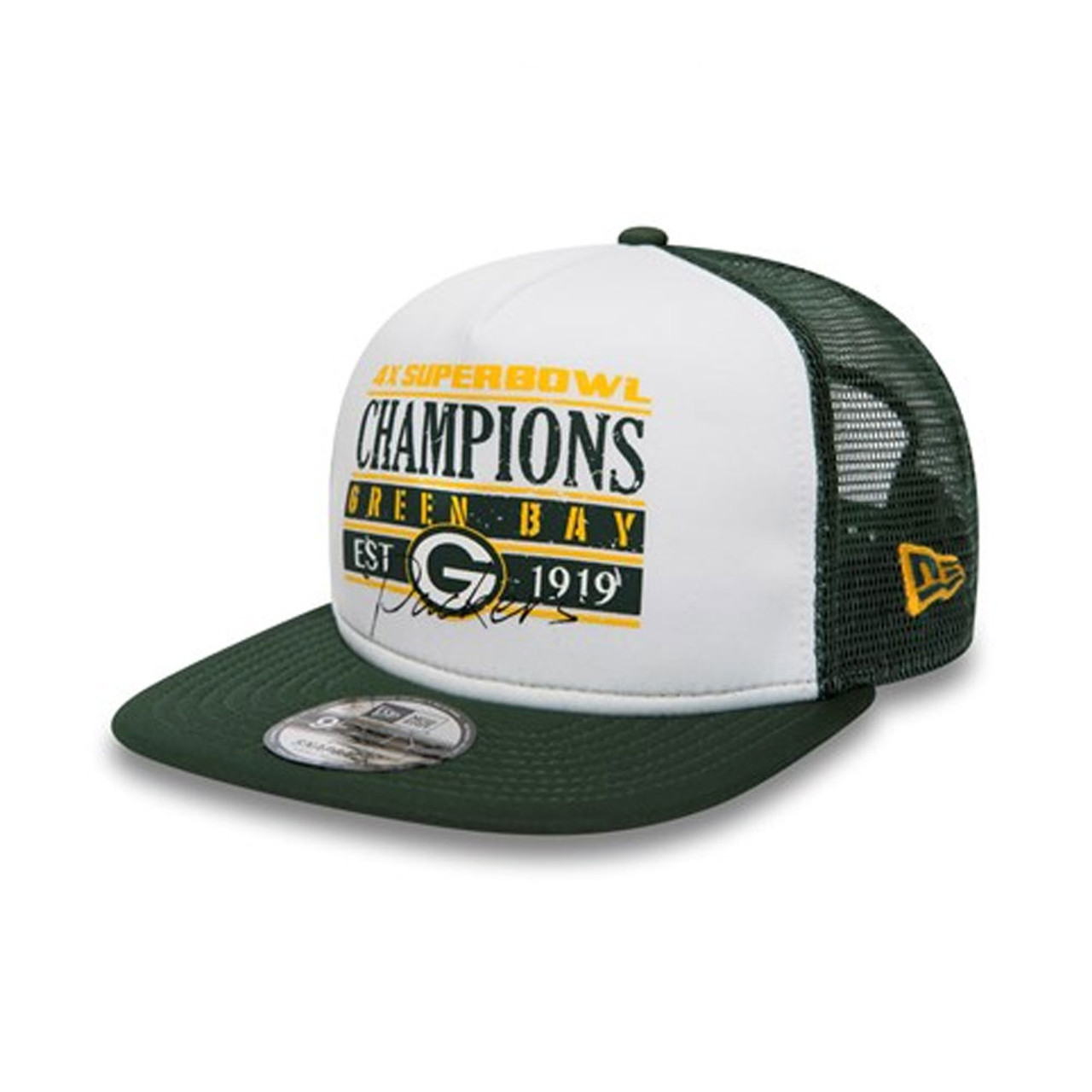 863e9fd0dbfc7 NEW ERA Boston Celtics Trucker cap  black white green  NEW ERA Green Bay  Packers Trucker cap medium large  white green