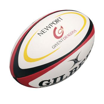 GILBERT Newport Gwent Dragons Mini Rugby Ball