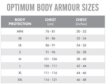 OPTIMUM blitz rugby body armour junior [black]