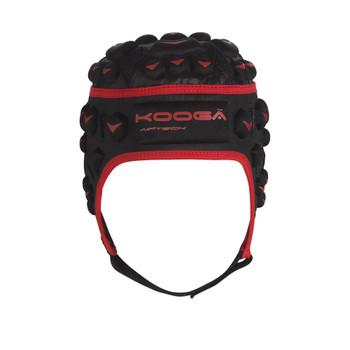 Kooga Dunedin Airtech Loop Rugby Headguard Junior [black/red]