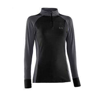 UNDER ARMOUR Coldgear Women's Longsleeve 1/4 Zip Top [black]