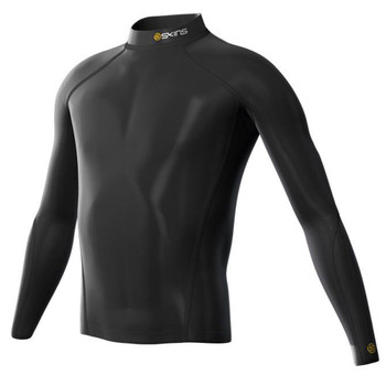 SKINS Youth Thermal Long Sleeve Top with Mock Neck [black]