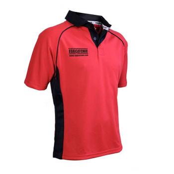 EGGCATCHER canberra match shirt junior [red/black]