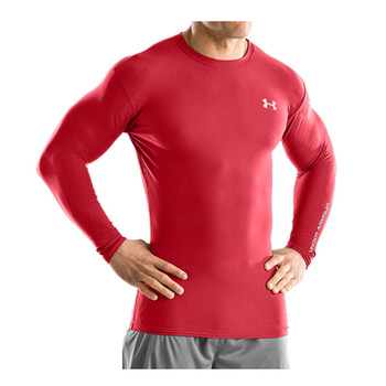 UNDER ARMOUR coldgear compression longsleeve crew II [red]