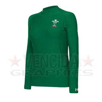 UNDER ARMOUR coldgear women's WRU mock [green]