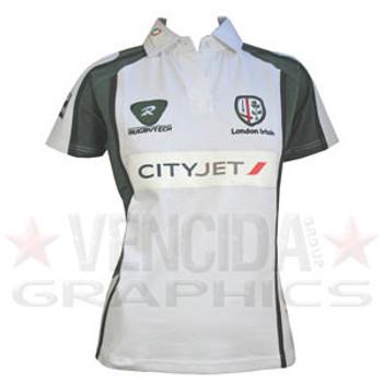 76f516ea27f8 RUGBYTECH london irish ladies away rugby shirt