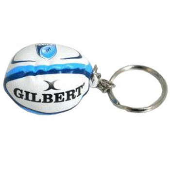 GILBERT cardiff blues rugby ball key ring