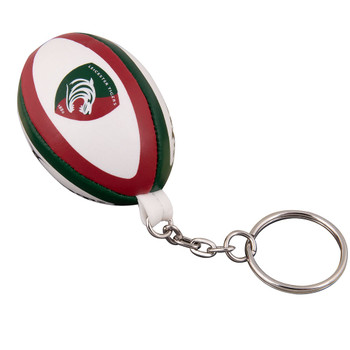 GILBERT leicester tigers rugby ball key ring