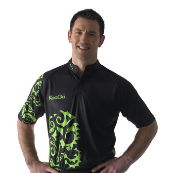KOOGA tour rugby shirt [black/green]