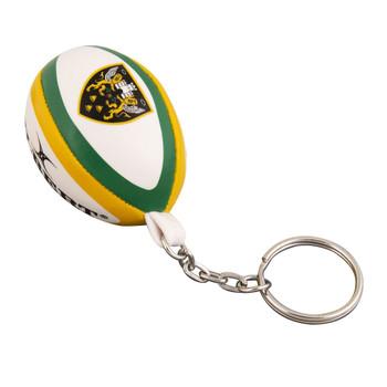 GILBERT northampton saints rugby ball key ring
