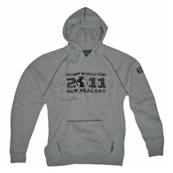 Rugby World Cup 2011 Logo Hooded Sweatshirt [grey]