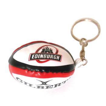 GILBERT edinburgh rugby ball key ring