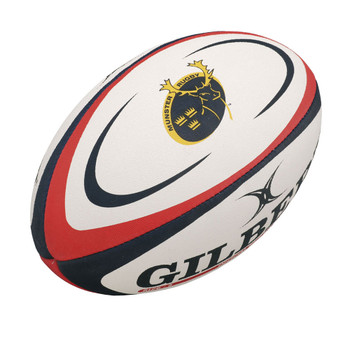 GILBERT munster midi rugby ball [white/red]