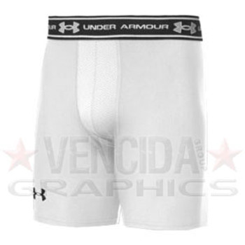 UNDER ARMOUR cold gear core ventilated compression short [white]