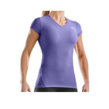 UNDER ARMOUR heatgear short sleeve t-shirt women's [lilac]