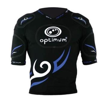 OPTIMUM tribal rugby five pad body armour senior [black/blue]