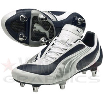 PUMA v3.08 sg football boot [navy/white/silver]