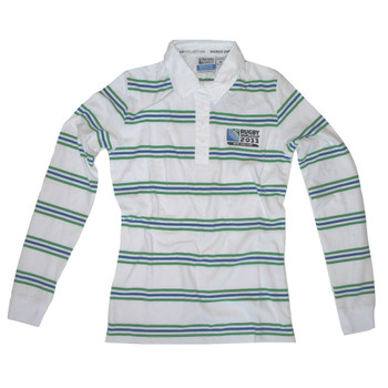 Rugby World Cup 2011 3 Stripe Ladies Rugby Shirt