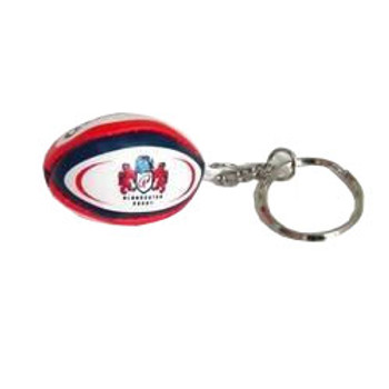 GILBERT gloucester rugby ball key ring
