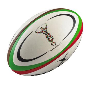 GILBERT harlequins mini rugby ball