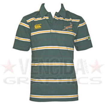 CCC south africa striped golfer polo shirt