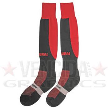 SAMURAI tri nations socks [black/red]