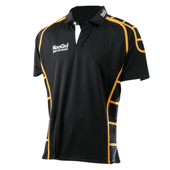 KOOGA teamwear piped match shirt junior [black/yellow]