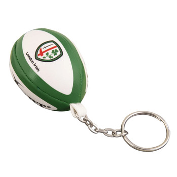 GILBERT london irish rugby ball key ring