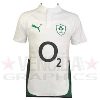 PUMA ireland away cotton short sleeve rugby shirt 09/10