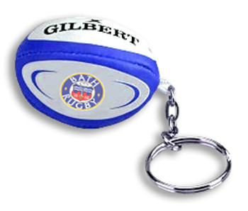 GILBERT bath rugby ball key ring