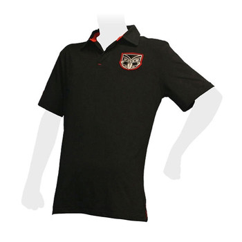 CCC New Zealand Warriors Street Wear Rugby Polo Shirt