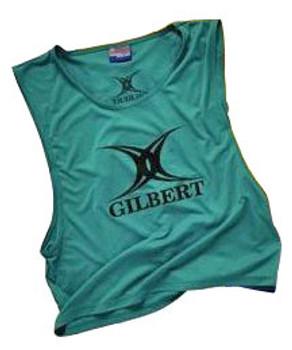 GILBERT rugby polyester training bib [green]