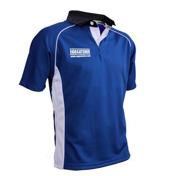 EGGCATCHER canberra match shirt junior [blue/white]