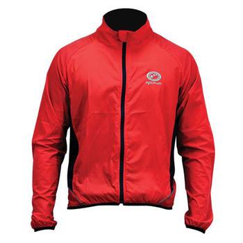 Optimum Stowaway Windproof Cycling Jacket [red]